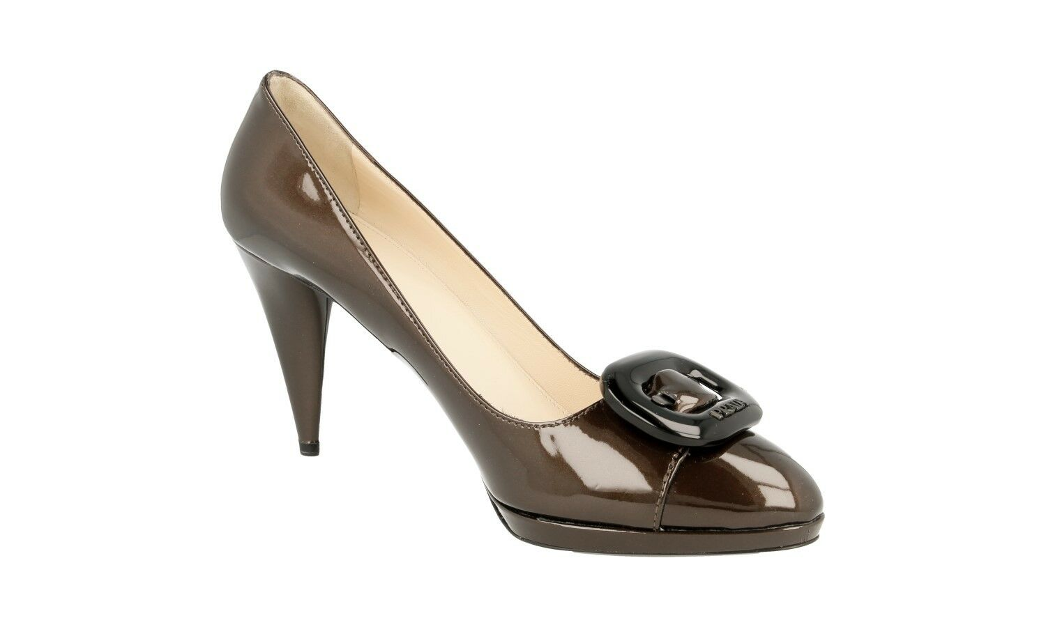 AUTHENTIC AUTHENTIC AUTHENTIC LUXURY PRADA PUMPS chaussures 1P813A CACAO NEW US 10.5 EU 40,5 41 UK 7.5 c913fb