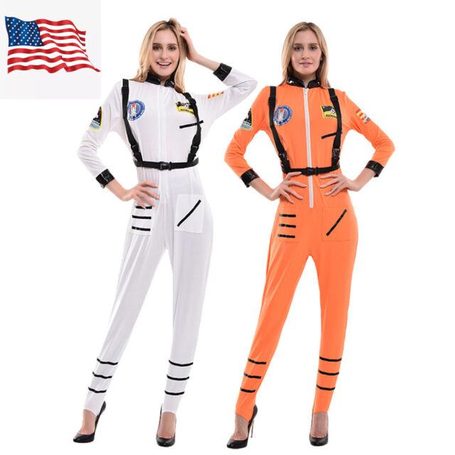White Astronaut Womens Adult Space Explorer Halloween Costume