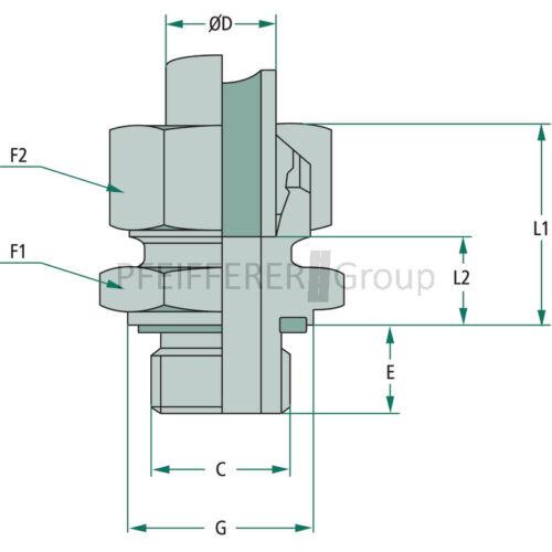 STAUFF Gerade-Einschraubverschraubung metrisch GEM 08 LL 10