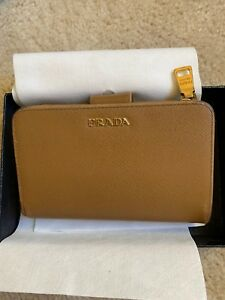 280a47c11449 Details about Prada 1ML225 Saffiano Leather French Wallet with Coin Zip  Pocket