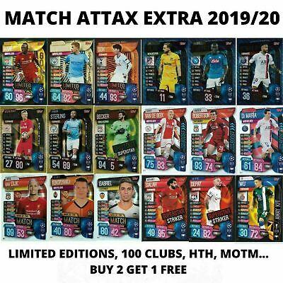 Match Attax 19//20 Edición Limitada//100 Club//MVP//motm//Centurión compre 3 lleve 1 Gratis