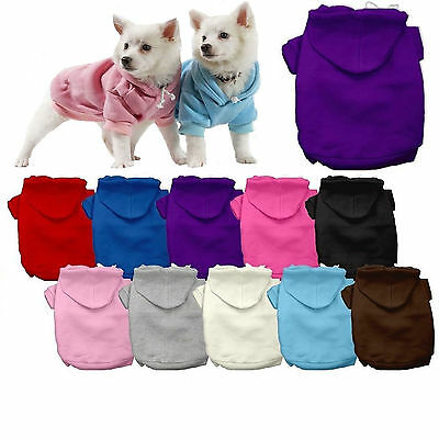 Dog Clothes Coat Blank Plain Hoodie Sweater Jacket for Dog Dogs Puppy COTTON