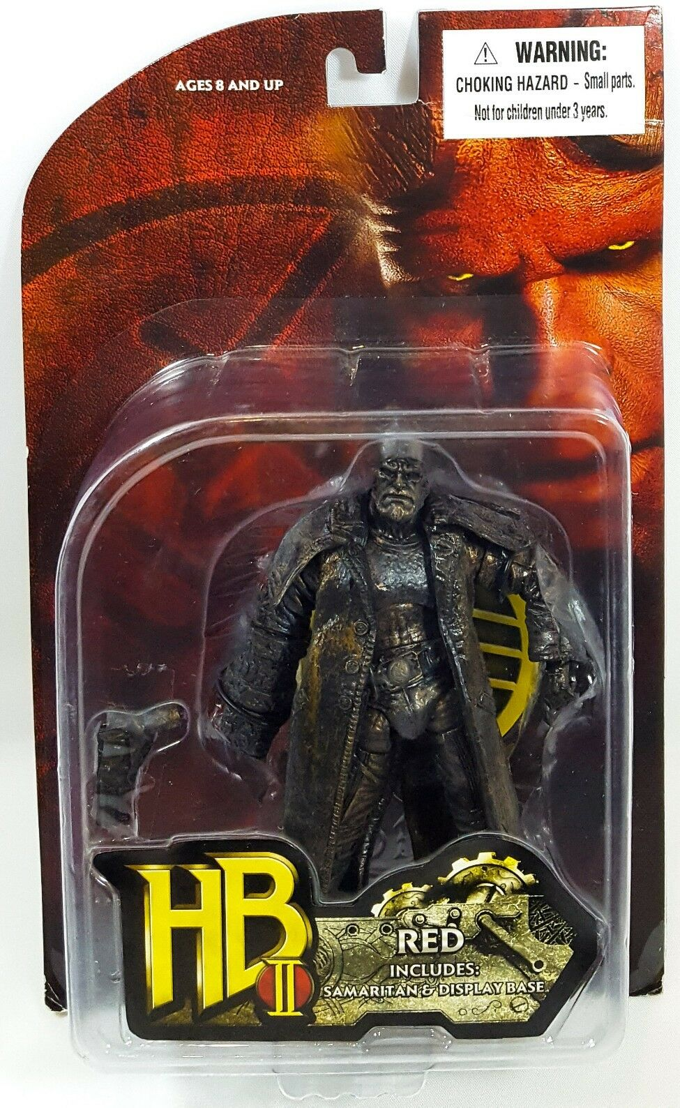 2008 MEZCO HELLBOY rosso 'BRONZE' PRIZE ONLY HOLY GRAIL EXTREMELY  RARE 3 3 4   MIP  marchio in liquidazione