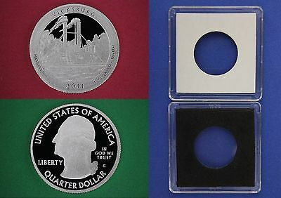 Silver 2011 S Vicksburg Proof Quarter With 2x2 Case DCAM Combined Shipping