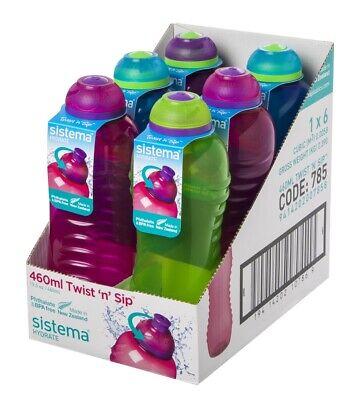 Sistema Squeeze // Twist Plastikflasche farblich sortiert 2er Pack 460ml