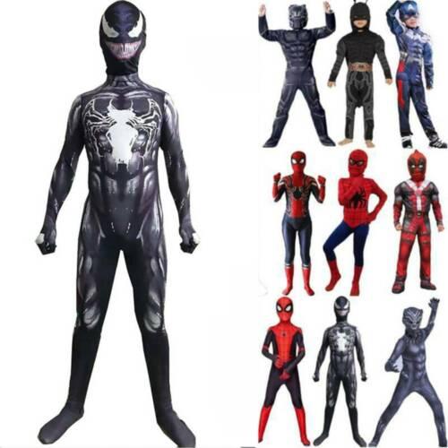 Avengers Iron Spiderman Child Adult Cosplay Costume Marvel Superhero Fancy Dress