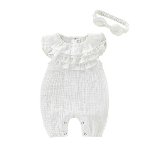 Infant Newborn Baby Girls Boys Solid Sleeveless Jumpsuit Romper Clothes Outfit k
