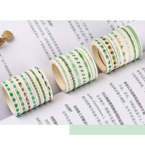 20Pcs 5mm Fine Washi Tape Scrapbooking Diary Decor Sticky Paper Stickers Tapes