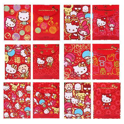 9-6438 SANRIO HELLO KITTY FAMILIES LUNAR YEAR RED POCKET// ENVELOP 6 TYPES