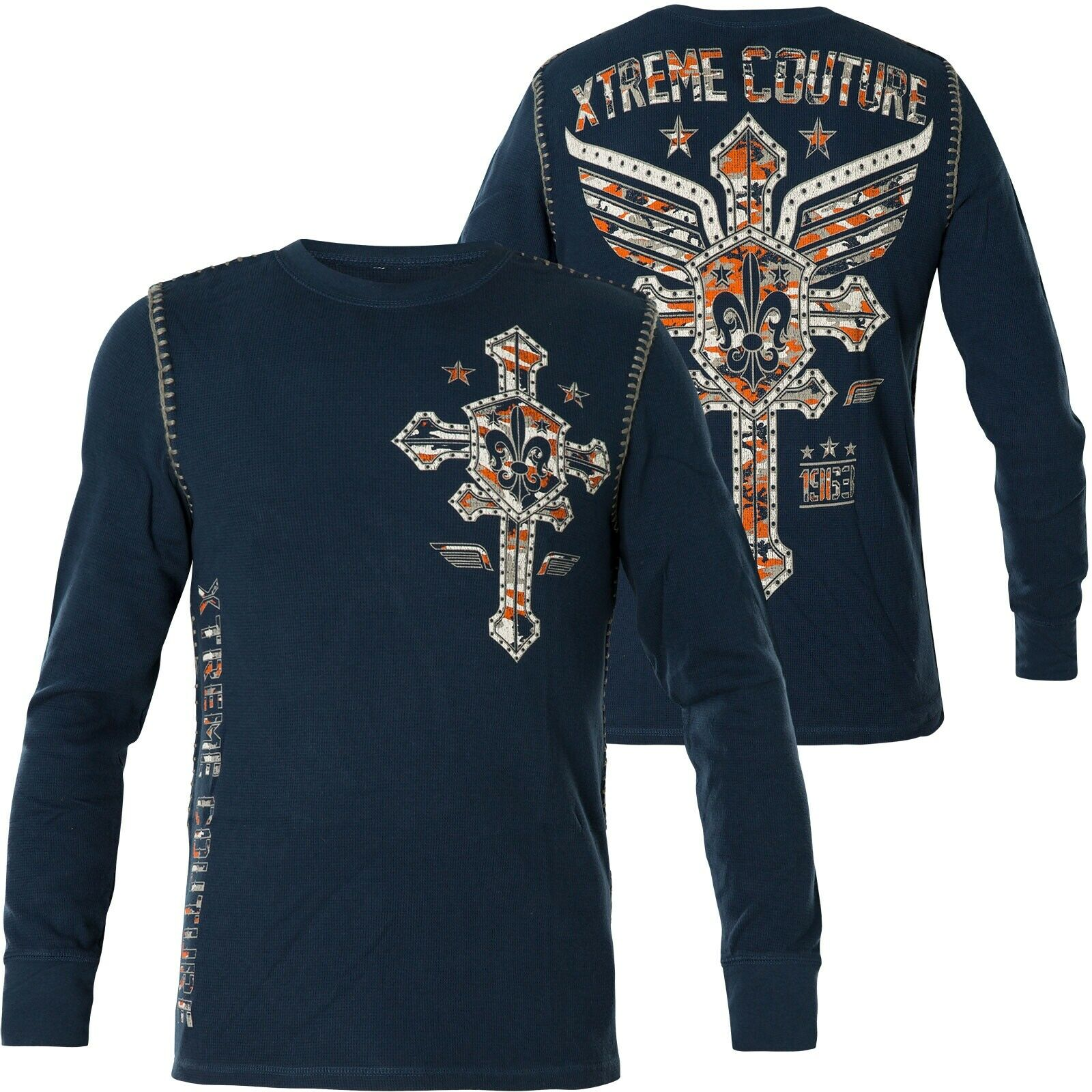 Xtreme Couture by Affliction Thermal Soldier Of Faith Wings Blue