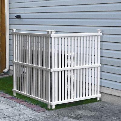 Lattice Enclosure Fence White Trash Can