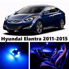 10pcs LED Blue Light Interior Package Kit for Hyundai Elantra 2011-2015