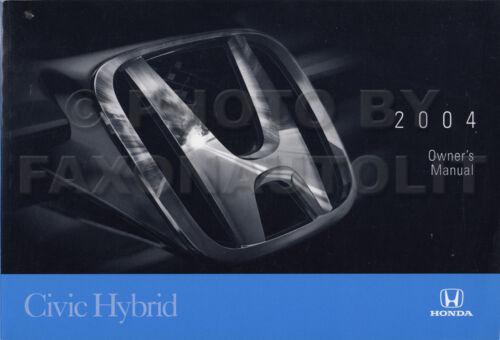2004 Honda Civic HYBRID Owners Manual Original Owner User Guide Book