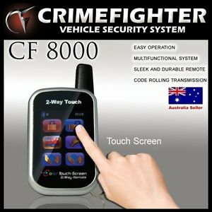 CF-8000-CRIMEFIGHTER-Color-Touch-Screen-Remote-2-Way-Pager-Car-Alarm-System