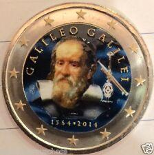 2 euro 2014 Italia color Farbe couleur italie italien italy 450 Galileo GALILEI