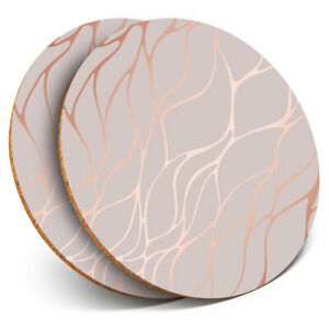 2-x-Coasters-Rose-Gold-Marble-Effect-Cool-Home-Gift-2452