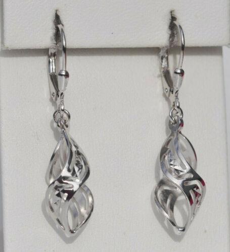 Echt 925 Sterling Silber Ohrringe Ohrhänger Spirale Hochzeit Geschenk Nr 412