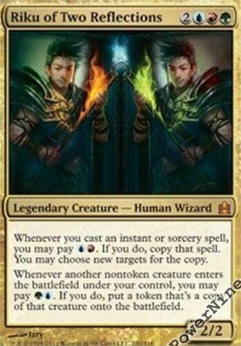 1 PreCon PLAYED Riku of Two Reflections Gold C11 Commander 2011 Mtg Magic Myth