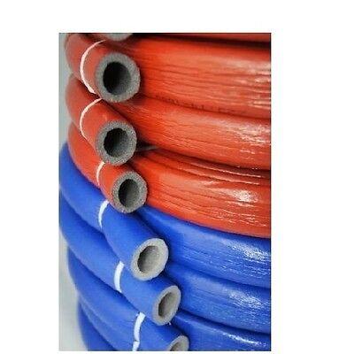 Isolierschlauch 15/18/22/28/32 10m Rohrisolierung PEX, BLAU, ROT variant Kupfer