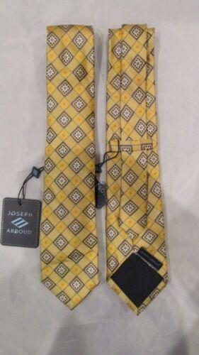 JOSEPH ABBOUD Neck Tie Youth Boys NWT $36 Yellows Blue White 100/% Silk FBB