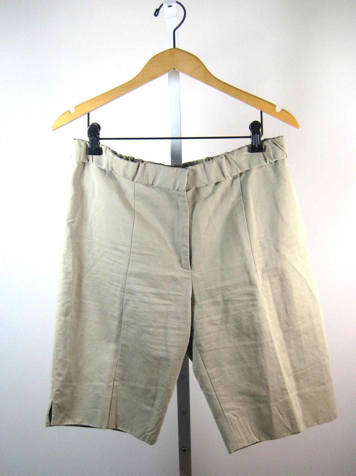 CACHAREL Tan Cotton Linen Knee Length Walking Short Size 10