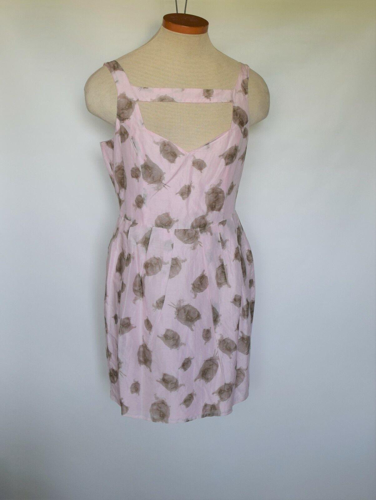 NWOT BB DAKOTA Sleeveless Linen Silk Blend Pink Summer Festive Womens Dress Sz 8