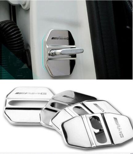 4x AMG Auto Cerradura Türschloss Schutzabdeckung Abdeckung Schnalle AMG Benz New