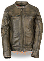 Women's Brown Distressed Scooter Jacket W/ Venting-all Sizes Available-