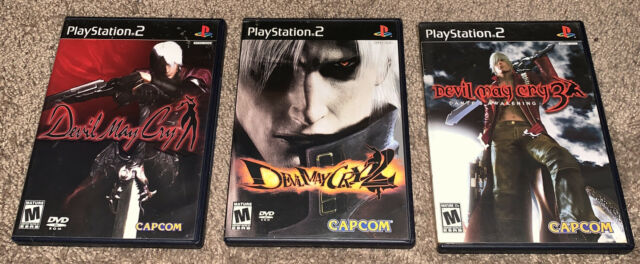 Devil May Cry 1 + 2 + 3 Game Lot Set PlayStation 2 PS2 Complete Black Label CIB