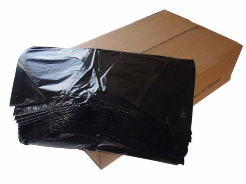 """200 heavy duty black refuser sacs poubelle sacs 140 gauge 18 /""""x 29/"""" x 39 /"""""""