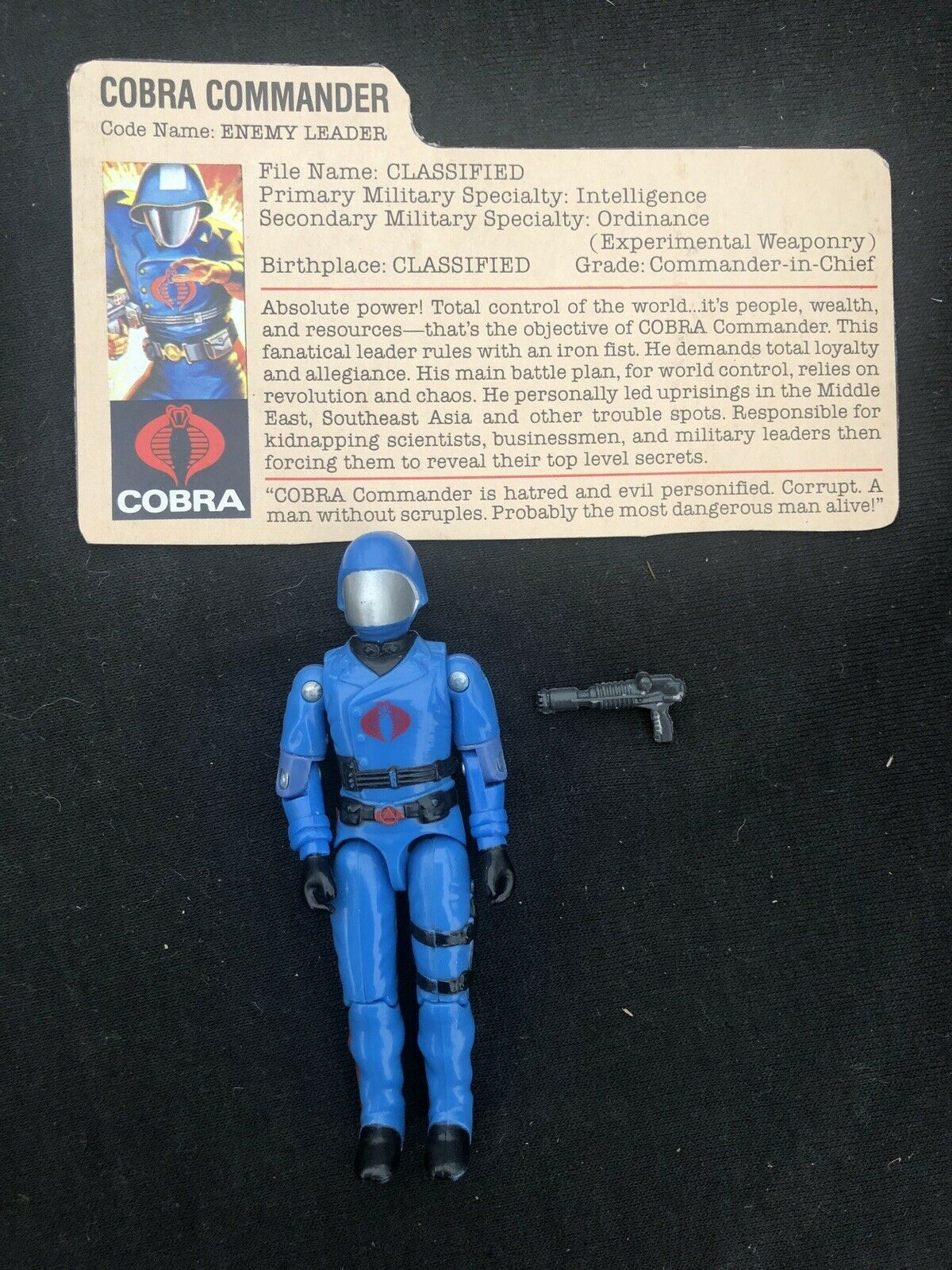 G I JOE 1982-83 Cobra Commander 100% Loose Complete Tight Joints AFA Ready NM+