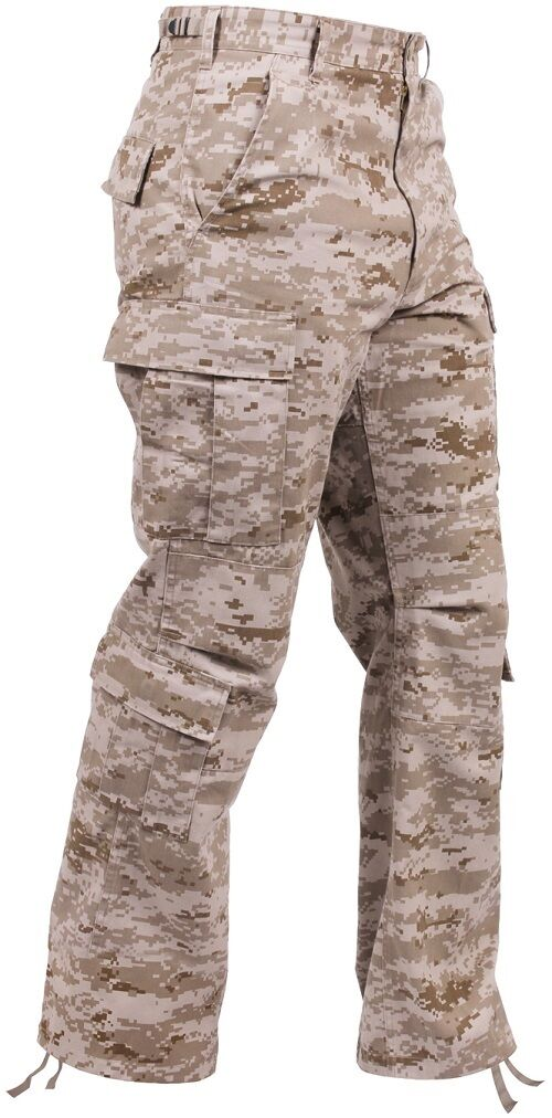 Vintage Desert Digital Camo USMC Paratrooper Pants Tactical Military BDUs 23366