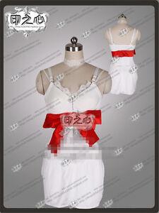 Anime Catherine Dress Nightgown Night Skirt White Cosplay Costume Braces Skirt
