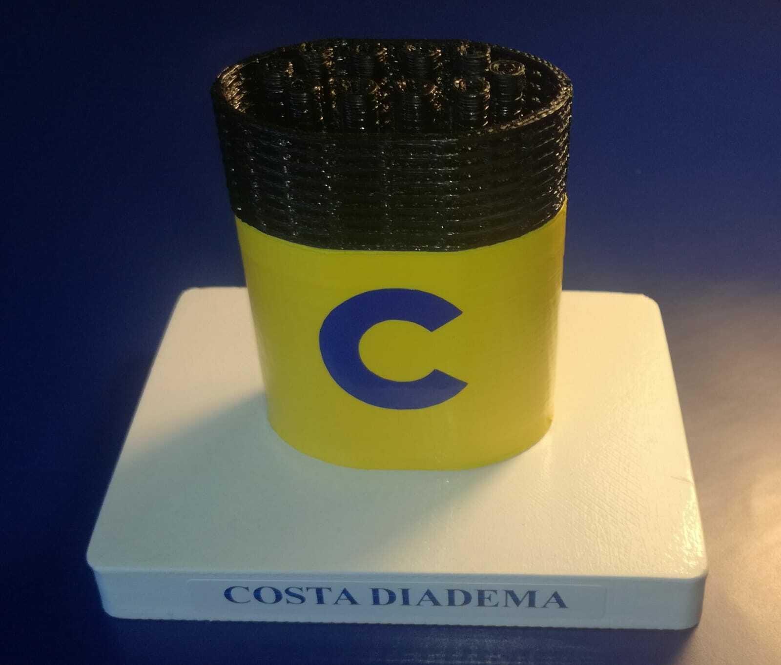 Costa Diadema , , , model funnel - Modello ciminiera scale 1 300 Costa Crociere dfa3e7