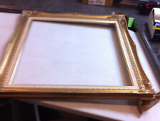 PICTURE FRAME BRIGHT GOLD ORNATE 20 x 24 Number 637/613 Slight Damage