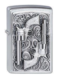 Zippo-gasolina-encendedor-revolver-emblema-para-todos-cowboys-2001654-nuevo-embalaje-original
