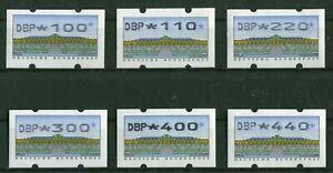 Bund-ATM-2-2-1-VS-3-postfrisch-Automatenmarken-BRD-1993-alle-6-Werte-SANSSOUCI