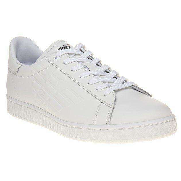 e0d7d0555 New MENS EA7 WHITE CLASSIC LEATHER Sneakers Court zegkyd3793 ...