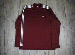 Adidas Original Men's Long Sleeve Burgundy Shirt Size XL ATS Dry