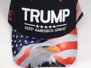 Blue-TRUMP-2020-Keep-America-Great-Hat-W-Eagle-On-Bill-MAGA-FREE-SHIPPING