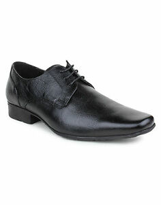 RED TAPE BLACK COLOR FORMAL LEATHER SHOES - RTR 0731