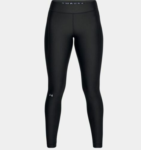 Under Armour Damen Leggings HeatGear® Kompressions Sport Tight Schwarz Neu