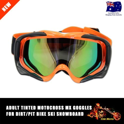 Dirt Bike Orange MX Motocross Moto X Goggles *anti-fog* UV protection *Tinted*