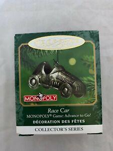 2001-Hallmark-Keepsake-Miniature-Ornament-Monopoly-Race-Car-Game-Advance-To-Go