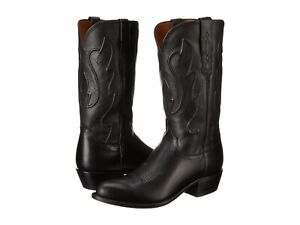 a1e1ab83686 Details about New Men's Lucchese 1883 Cole M1006.R4 Black Ranch Hand Cowboy  Boots R toe