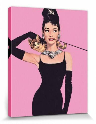Pop-Art Poster Leinwand-Druck 50x40cm Audrey Hepburn #67148