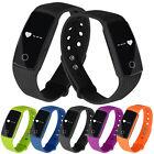 ID107 Heart Rate Monitor Wristband Smart Watch Bracelet Watch Fitness Track Lot