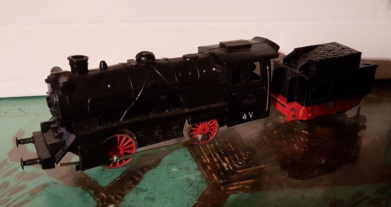 FLEISCHMANN HO LOCOMOTIVE + TENDER Eisenbahn  Railroad 1305 ANNEE 1954 NEUF