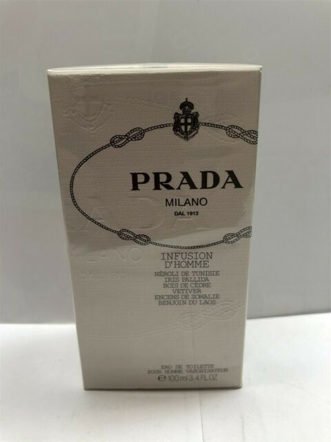 Prada Infusion D'Homme 3.4 oz/100 ml Eau de Toilette Spray Men, Sealed & Rare!