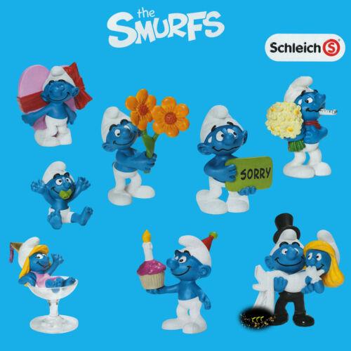 Schleich * Occasions * Smurf Set of 8 Wedding Baby Smurfs Lot Love New!